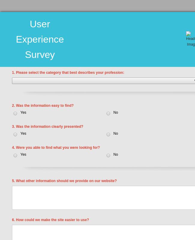 User Experience Survey Form Template Jotform