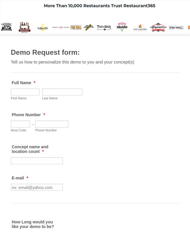 Demo Request Form Template Jotform