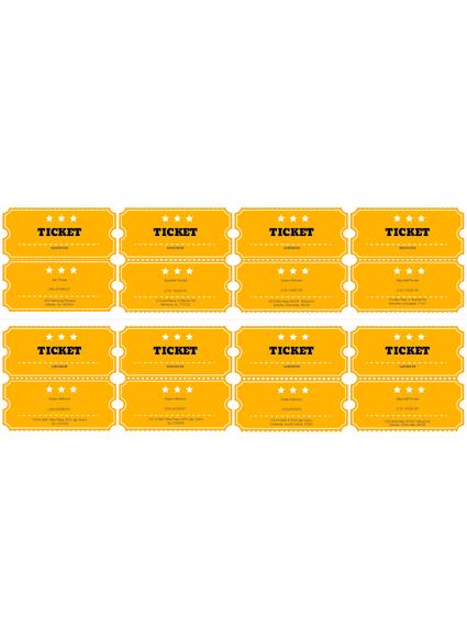 Free Raffle Ticket Template Pdf Templates Jotform
