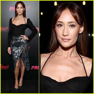 Maggie Q Strikes a Pose at 'The Protege' Premiere in Los Angeles