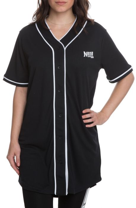 The Serenade Baseball Jersey in Black