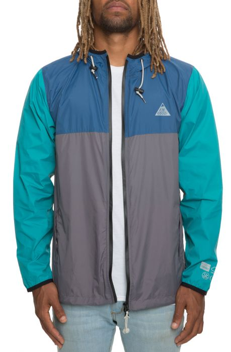 The Deep Descent Jacket in Teal and Grey