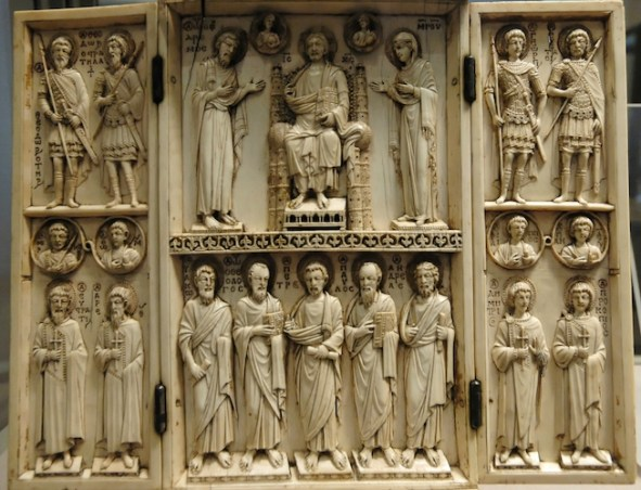 Harbaville Triptych, ivory, traces of polychromy, 28.2 x 24.2 cm (Louvre)