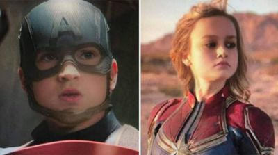 12 Foto Kocak Tokoh Avengers Saat Diedit Baby Filter