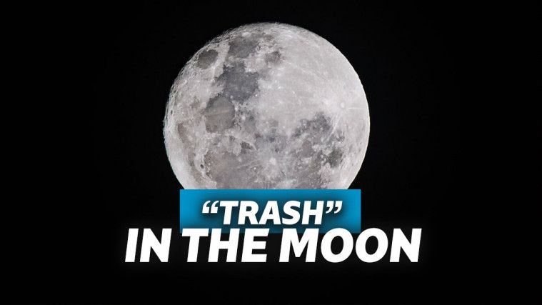 "Di Balik Keindahan Bulan, Berserakan ""Kotoran"" Astronot"