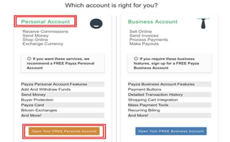payza account select