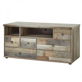 lowboard tv unterteil vintage driftwood braun branson 36 bxhxt ca 130x61x52cm