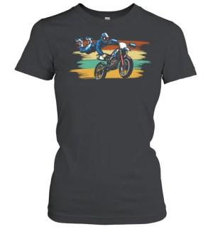 cool stunt bmx dirt bike fun racings shirt classic womens t shirt