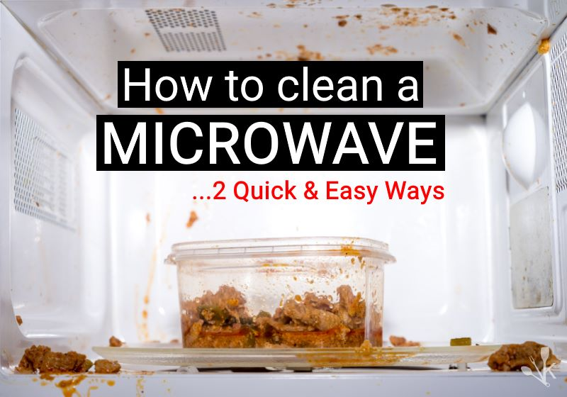 2 easy ways how to clean a microwave