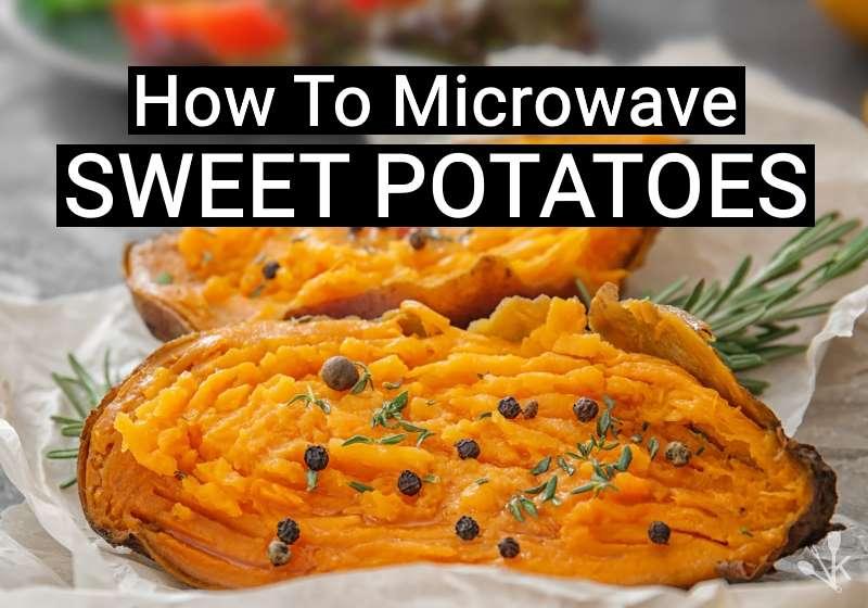 microwave a sweet potato easy recipe
