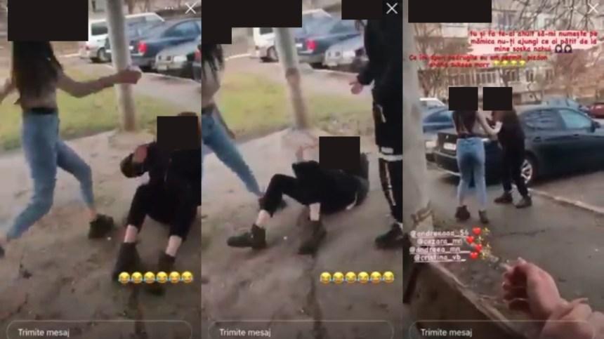 Imagini de coșmar în Chișinău! O tânără a fost bătută cu bestialitate de un grup de fete