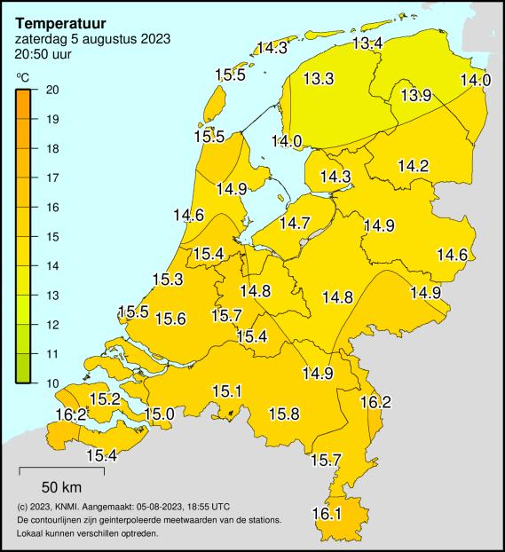 Weerkaart Nederland KNMI
