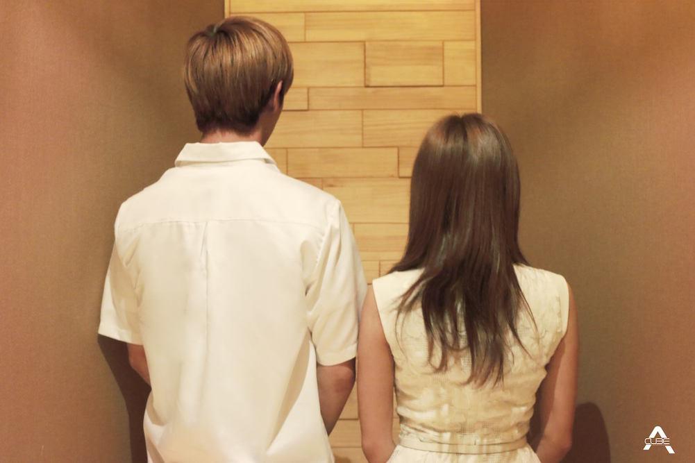 BTOB's Yook Sungjae and Apink's Kim Namjoo - Apink's Official Facebook - https://www.facebook.com/Official.Apink2011/photos/a.575146365932866.1073741829.567045406742962/826812730766227/?type=3&theater
