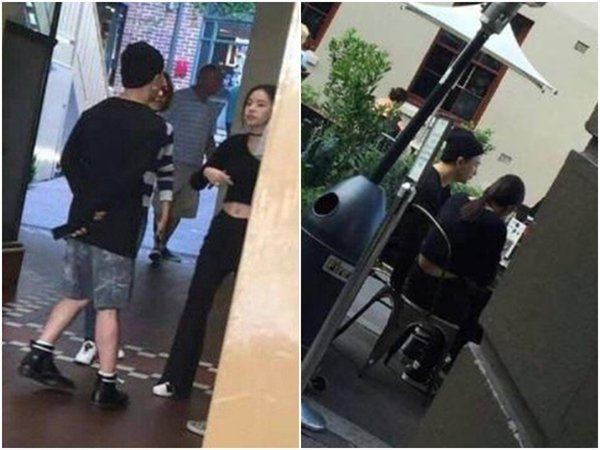 Taeyang and Min Hyo Rin on a date in Sydney, Australia.