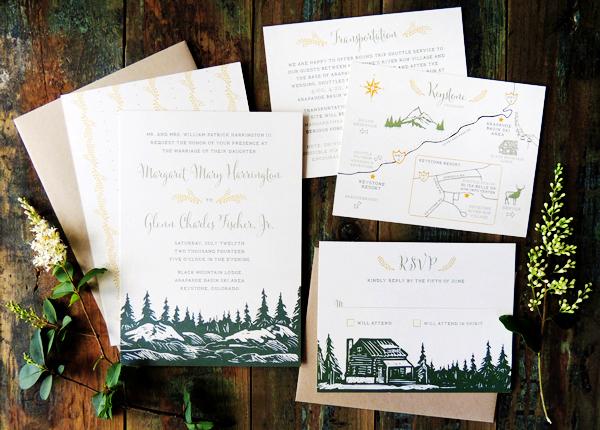 Mountain Wedding Invitation Ideas