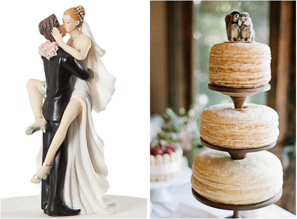 Quirky and Unique Wedding Cake Topper Ideas   Lake Tahoe Inspiration     Brides    etsy      Unique Cake Toppers 2