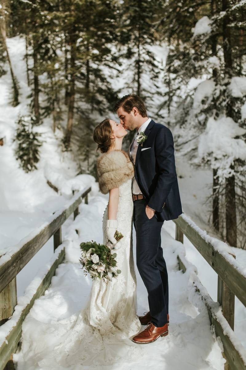 Gorgeous Winter Wedding At Emerald Lake Lodge Rocky