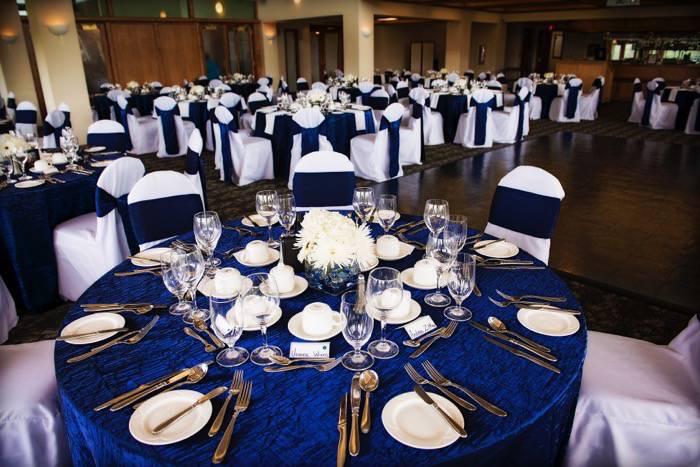 Cobalt Blue And Black Calgary Wedding