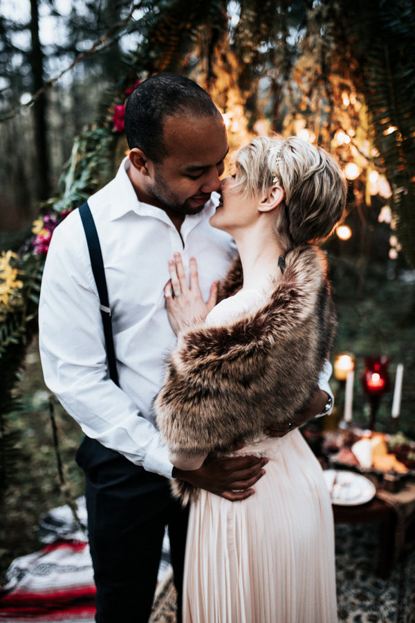 Moody PNW Boho Wedding Inspiration Outside Puyallup WA