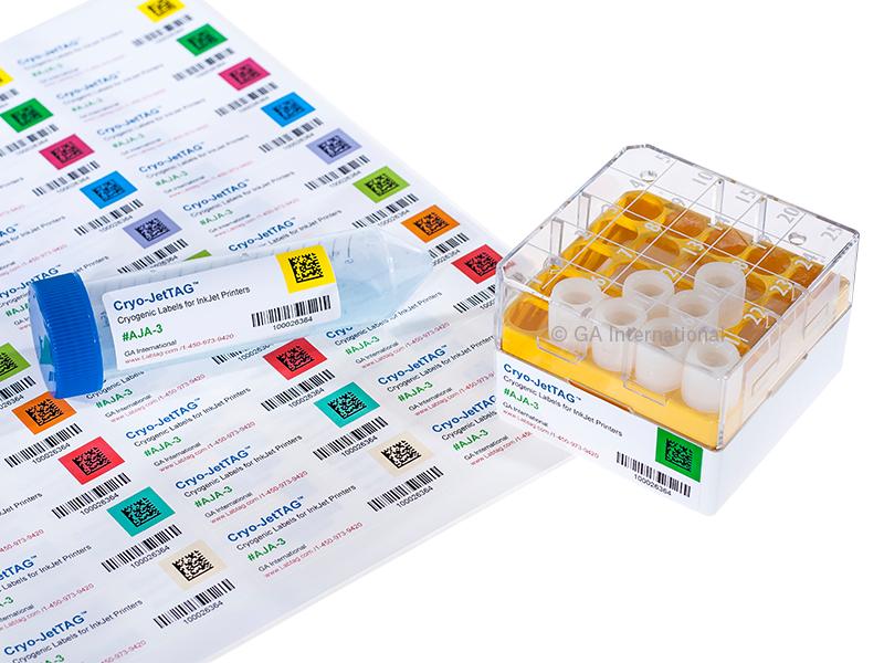 Cryo Inkjet Labels Us Letter Size 2 63 X 1 Aja 3 Labtag By Ga International