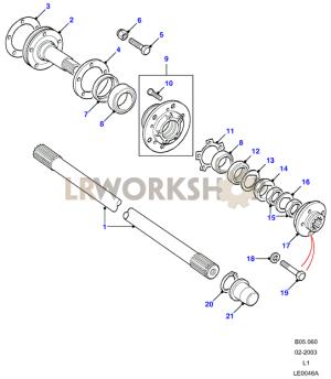 Hubs & Drive Shafts  To KA930455  Land Rover Workshop