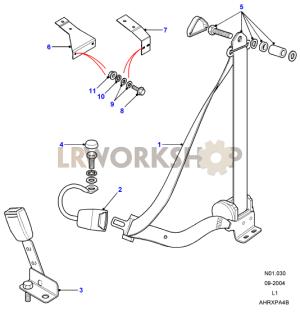 Seat Belt Assembly  Front  Land Rover Workshop