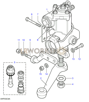 Steering Box  Power  Adwest  Lightweight  Land Rover