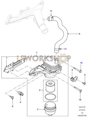 Oil Cooler and Filter  22 Tdci  Land Rover Workshop