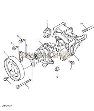 Power Steering Pump  Td5  Land Rover Workshop