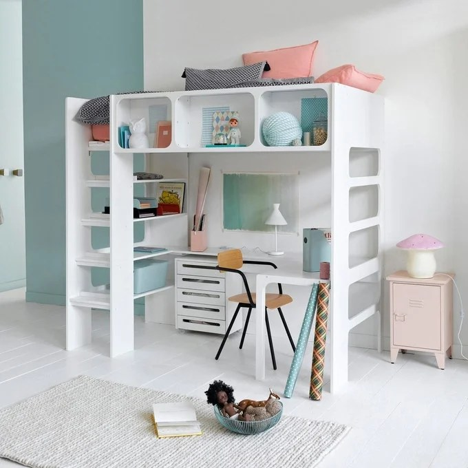 un lit mezzanine pour enfant