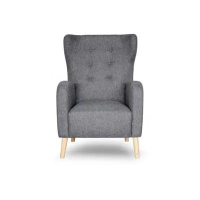 fauteuil scandinave dossier haut tissu anthracite alienor declikdeco