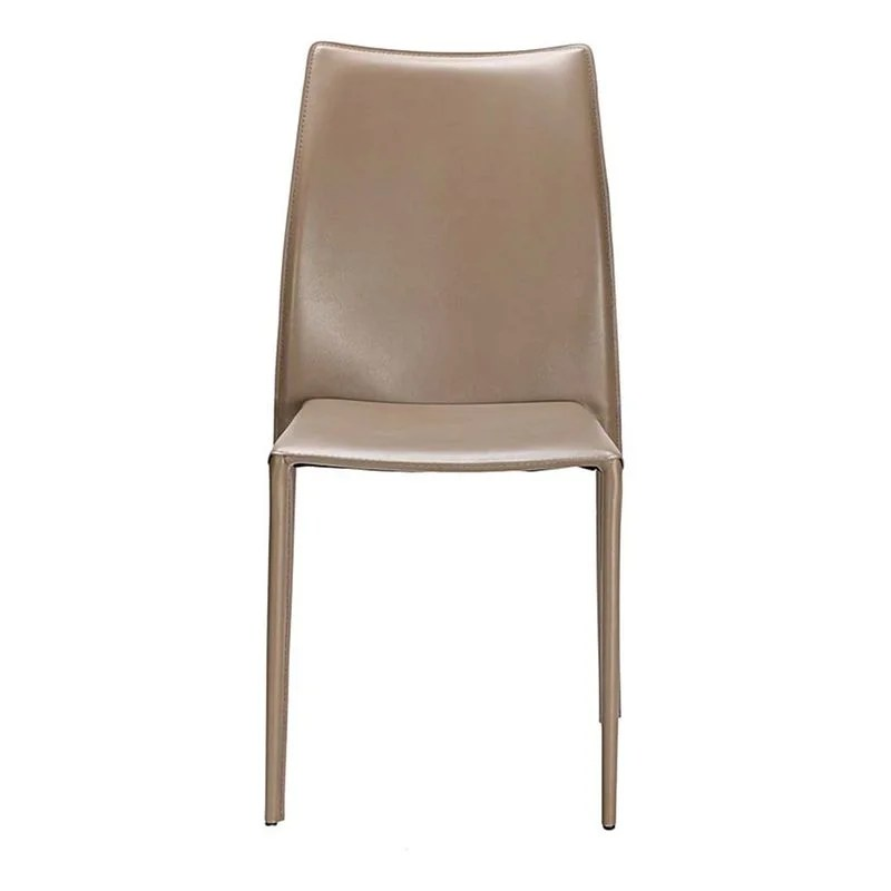 chaise cuir taupe la redoute