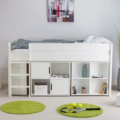 lit en hauteur blanc la redoute
