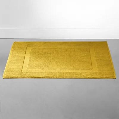 tapis de bain jaune la redoute