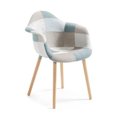 chaise tissu patchwork la redoute