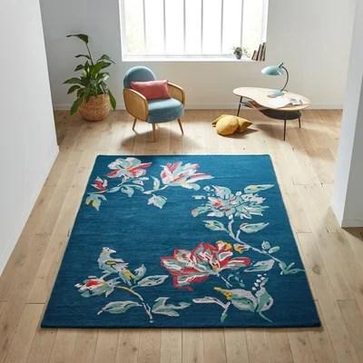 tapis avec motif fleurs la redoute