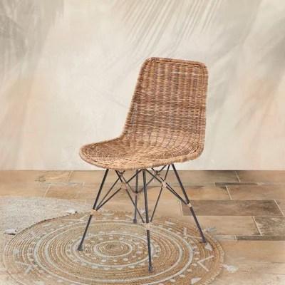 chaise scandinave pied noir la redoute