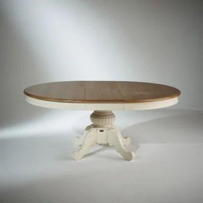 table salle a manger ovale blanche la