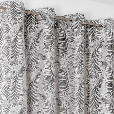 rideau gris avec motif la redoute