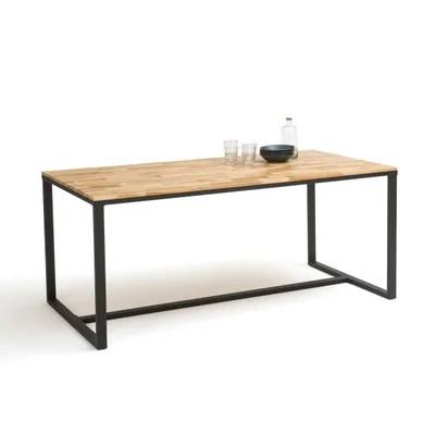 table bois metal la redoute