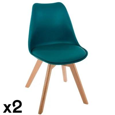 chaise scandinave bleu la redoute