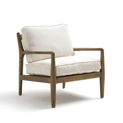 fauteuil blanc la redoute