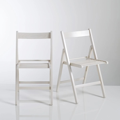 chaise grise et blanche la redoute