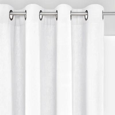 rideaux coton blanc oeillets la redoute
