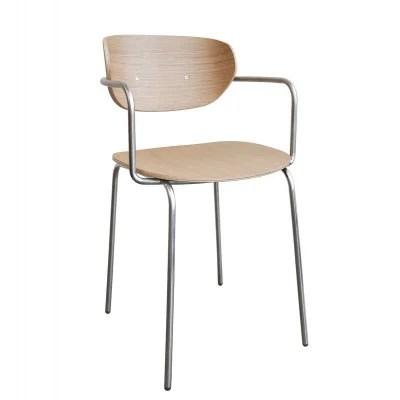 chaise scandinave avec accoudoir la