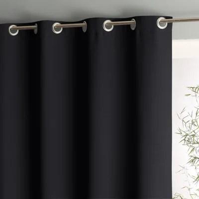 rideau noir et gris la redoute