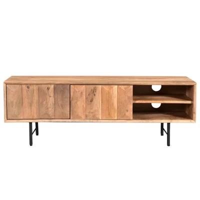 meuble tv bois manguier la redoute