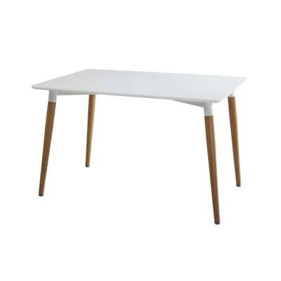table rectangulaire bois blanc la redoute