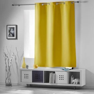 rideau couleur jaune moutarde la redoute