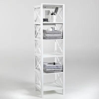meuble etagere salle de bain la redoute
